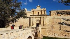 Mdina Мальта Стоковые Фото