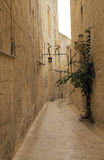 Mdina. Alley in the old downtown of Mdina, Malta Stock Image