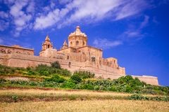 Mdina, alte Hauptstadt Rabat Maltas stockfoto