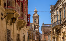 Mdina Balconies Royalty Free Stock Photography