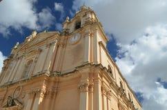 Mdina Cathederal Malta Arkivfoton