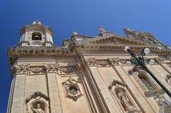 Mdina Cathederal Malta. Naxxar Churchl architecture Malta Rabat Stock Photos