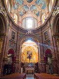 Mdina cathedral, Malta. Beautiful interior of the famous Saint Mdina Cathedral in Malta, Landmark of Europe stock photo