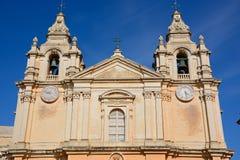 Mdina Cathedral, Malta. Stock Photos