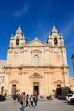 Mdina Cathedral, Malta. Stock Images