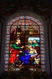 Mdina Cathedral stained glass window, Malta. Stock Photography