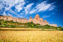 Mdina, città fortificata sull'isola di Malta immagine stock