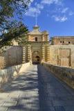 Mdina city gates, Malta Stock Image