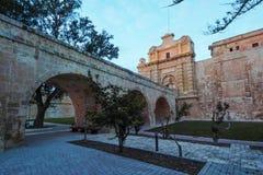 Mdina city gates Malta. Mdina city gates. Old fortress Malta Stock Photos
