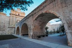 Mdina city gates Malta. Mdina city gates. Old fortress Malta Royalty Free Stock Images