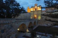 Mdina city gates Malta. Mdina city gates. Old fortress Malta Stock Image