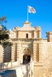 Mdina city gates. Old fortress. Malta. Europe Stock Photos
