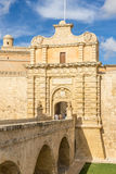 Mdina city gates. The gates of Mdina in the south west of Valletta Royalty Free Stock Images