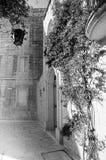 Mdina courtyard, black and white Stock Photo