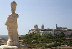 Mdina from distance Royalty Free Stock Photo