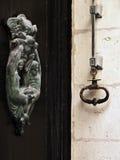 Mdina Door Knocker. Old bronze door knocker in the ancient city of Mdina in Malta Royalty Free Stock Image