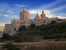 Mdina at Dusk Royalty Free Stock Photos