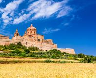 Mdina, fortified city on Malta island. Mdina, Malta - a fortified city in the Northern Region of Malta, old capital of the island Royalty Free Stock Image