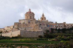 Mdina fortress, Malta. View of Mdina fortress (Old Capital), Malta Stock Images