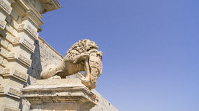 Mdina Gate Guardian Stock Photography