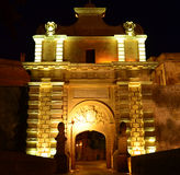 Mdina Gate - Malta. The main gate of the Medieval city of Mdina in Malta Royalty Free Stock Images