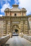 Mdina Gate - Mdina, Malta Stock Image