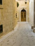 Mdina hölzerne Tür Stockbilder