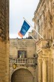 Mdina - im Jahre 2017 ist Malta der Vorsitz des Rates der EU Stockbild