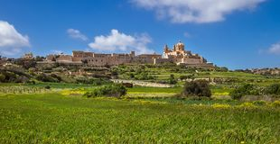 Mdina and its fortifications- the Malta island capital from anti. Quity to the medieval period Royalty Free Stock Photo