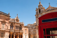 Mdina main square Stock Photo