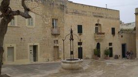 Mdina - MALTA, April, 2018:Walking along the medieval streets of old Mdina. Mdina is populer tourist destination in Malta. stock footage