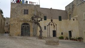 Mdina - MALTA, April, 2018:Walking along the medieval streets of old Mdina. Mdina is populer tourist destination in Malta. stock video