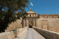 Silent city of Mdina, Malta Royalty Free Stock Photo