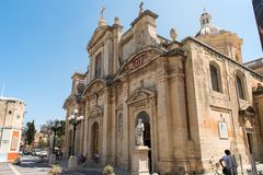 Silent city of Mdina, Malta Stock Photography