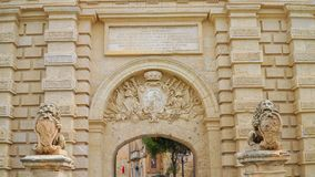 Mdina - MALTA. Gate in the ancient medieval city of Mdina. Mdina is a popular tourist destination in Malta. Mdina - MALTA. Gate in the ancient medieval city of Stock Photos