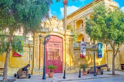 The gates to Palazzo Vilhena in Mdina, Malta royalty free stock images