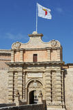 Mdina, Malta. Main entrance to medieval city Mdina in Malta, Europe Stock Photos