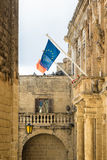 Mdina - In 2017, Malta is the presidency of the Council of the EU Stock Image