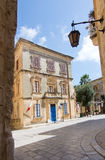 Mdina. MALTA - SEPTEMBER 15, 2015: Local police station inside old city walls on a sunny day in September 14, 2015 in , Malta Royalty Free Stock Image