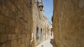 Mdina, Malta, Straßenansicht Lizenzfreies Stockfoto