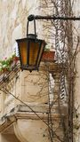 Mdina - MALTA. Street lights in the ancient medieval city of Mdina. Mdina is a popular tourist destination in Malta. Mdina - MALTA. Street lights in the ancient Royalty Free Stock Images