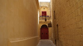 Mdina, Malta, street view. Mdina city street view. It is a fortified city in the Northern Region of Malta, which served as the island`s capital from antiquity to Royalty Free Stock Photos