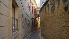 Mdina, Malta, street view. Mdina city street view. It is a fortified city in the Northern Region of Malta, which served as the island`s capital from antiquity to Stock Photo