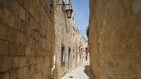 Mdina, Malta, street view. Mdina city street view. It is a fortified city in the Northern Region of Malta, which served as the island`s capital from antiquity to Royalty Free Stock Photo