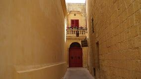 Mdina, Malta, vista della via Fotografie Stock Libere da Diritti