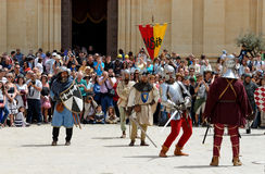 The Mdina medieval festival and tourists Royalty Free Stock Image