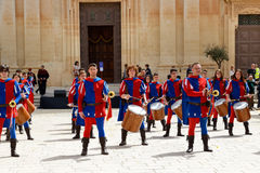 The Mdina medieval festival and tourists Stock Photo