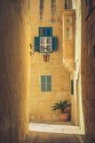 Mdina miasta ulicy - Malta Sławne wąskie ulicy w starym cit Obrazy Royalty Free