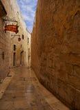 Mdina - mittelalterliche ummauerte Stadt in Malta Lizenzfreies Stockbild