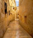Mdina - mittelalterliche ummauerte Stadt in Malta stockbild